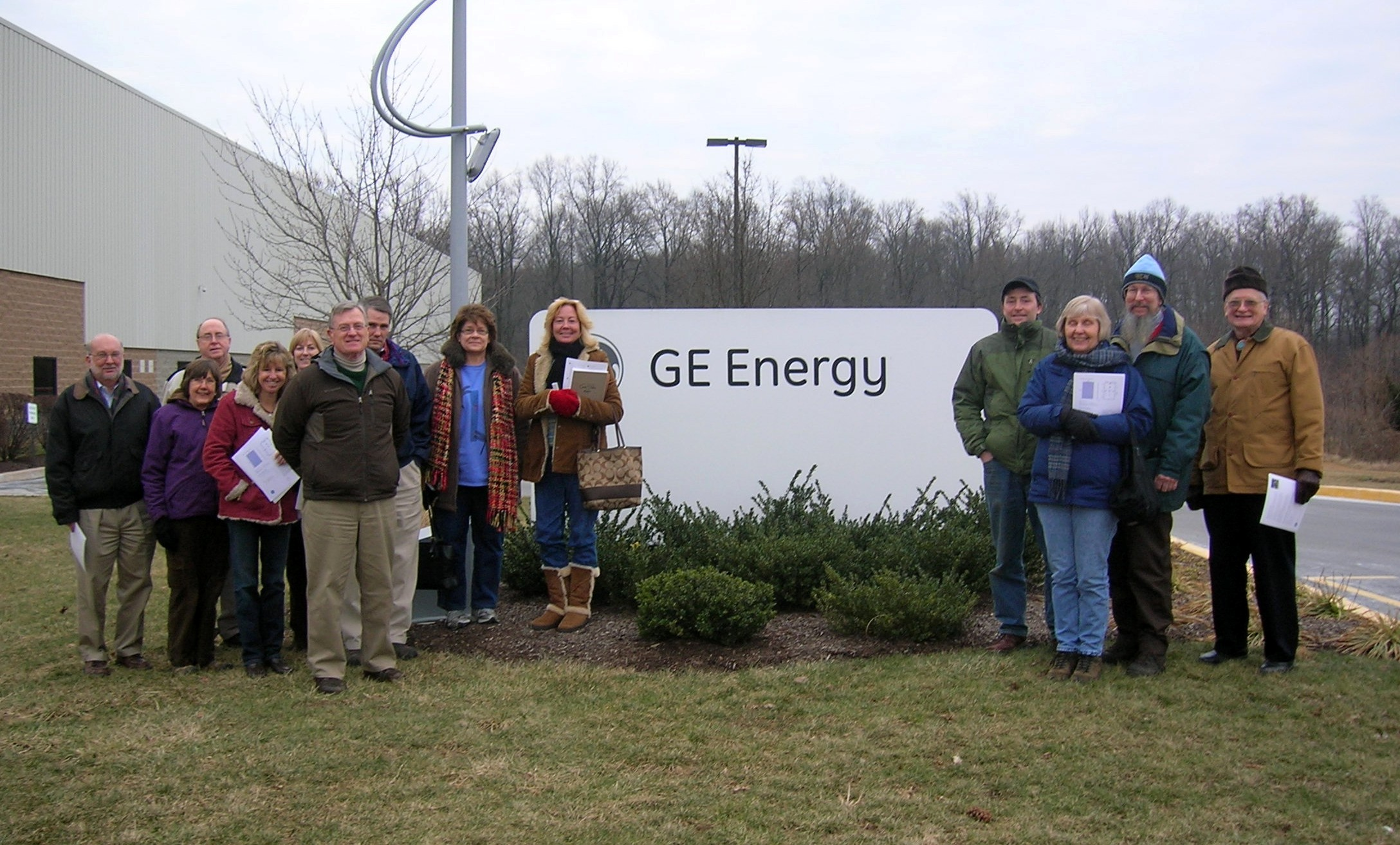 Delaware Nature Society Members Program field trip to the GE Solar Panel Facility, Newark, DE