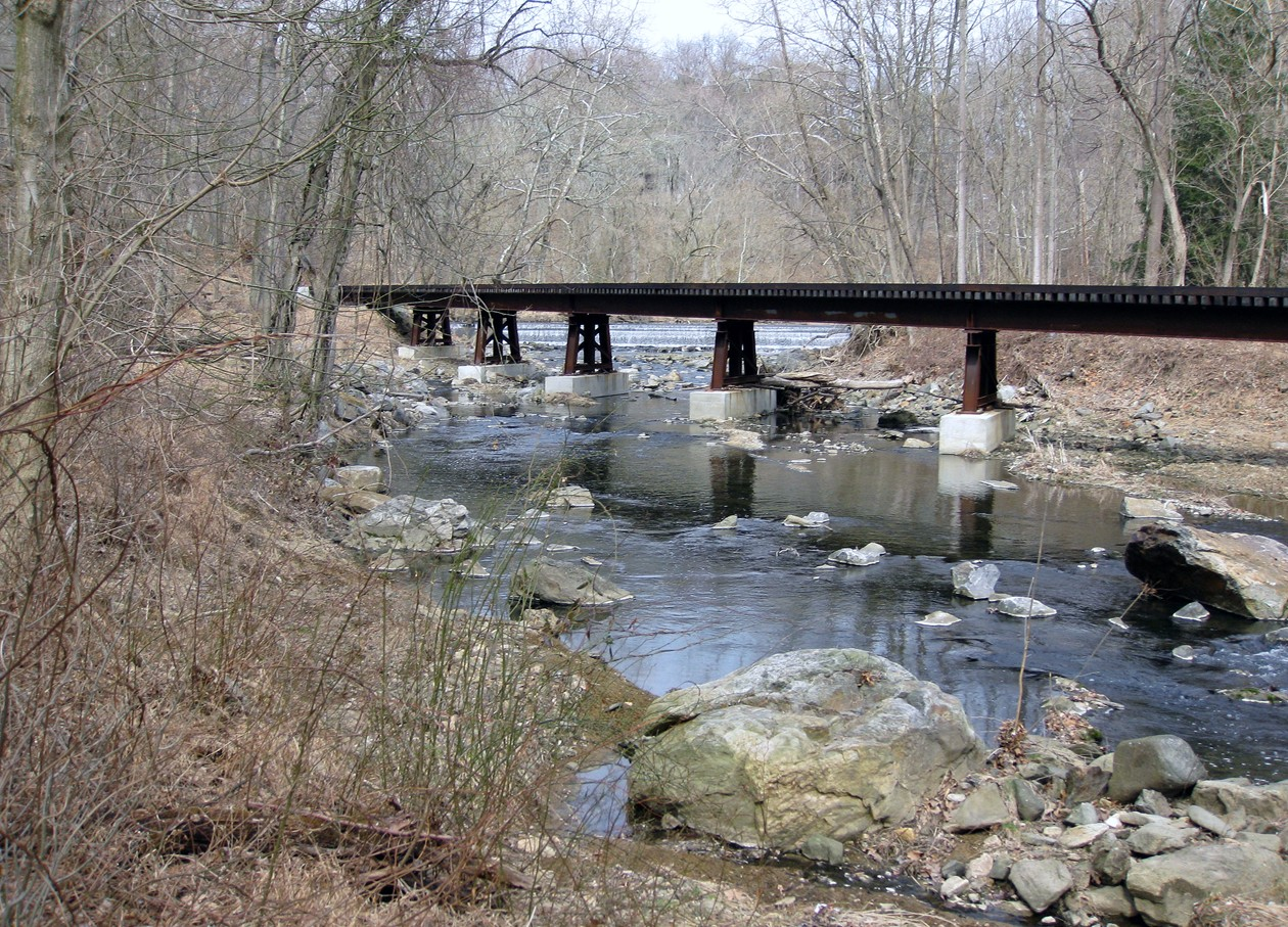A Wilmington and Western Railroad bridge over Red Clay Creek.