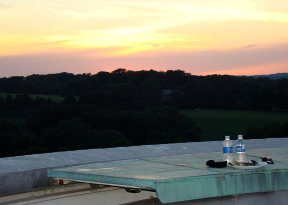 Sunset from the Granogue water tower.