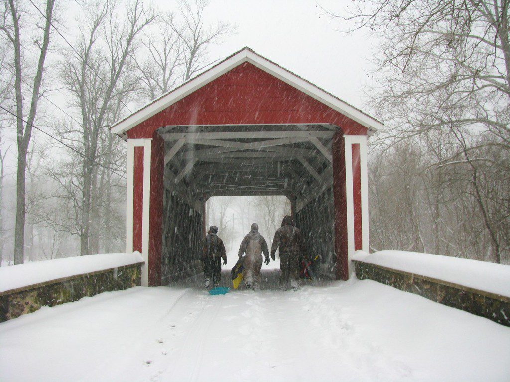 Snowfall.CoveredBridge.Ashland.12.19.09.derekstoner