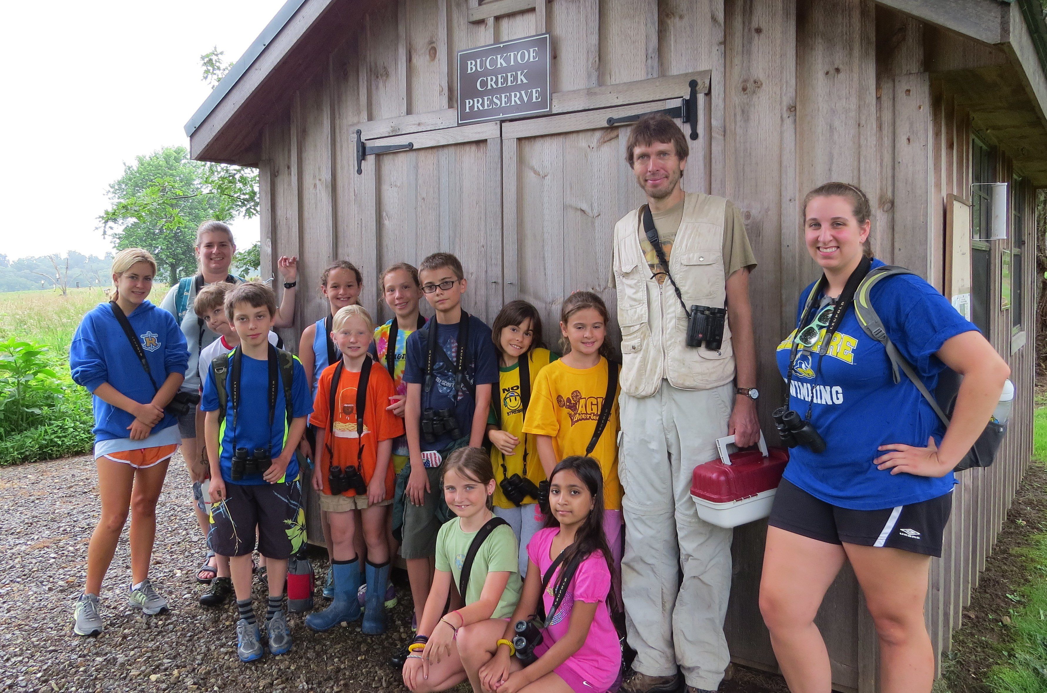 Thanks for visiting the Bucktoe Campout Classic camp Ian!  I see a few young ornithologists in the group I think.