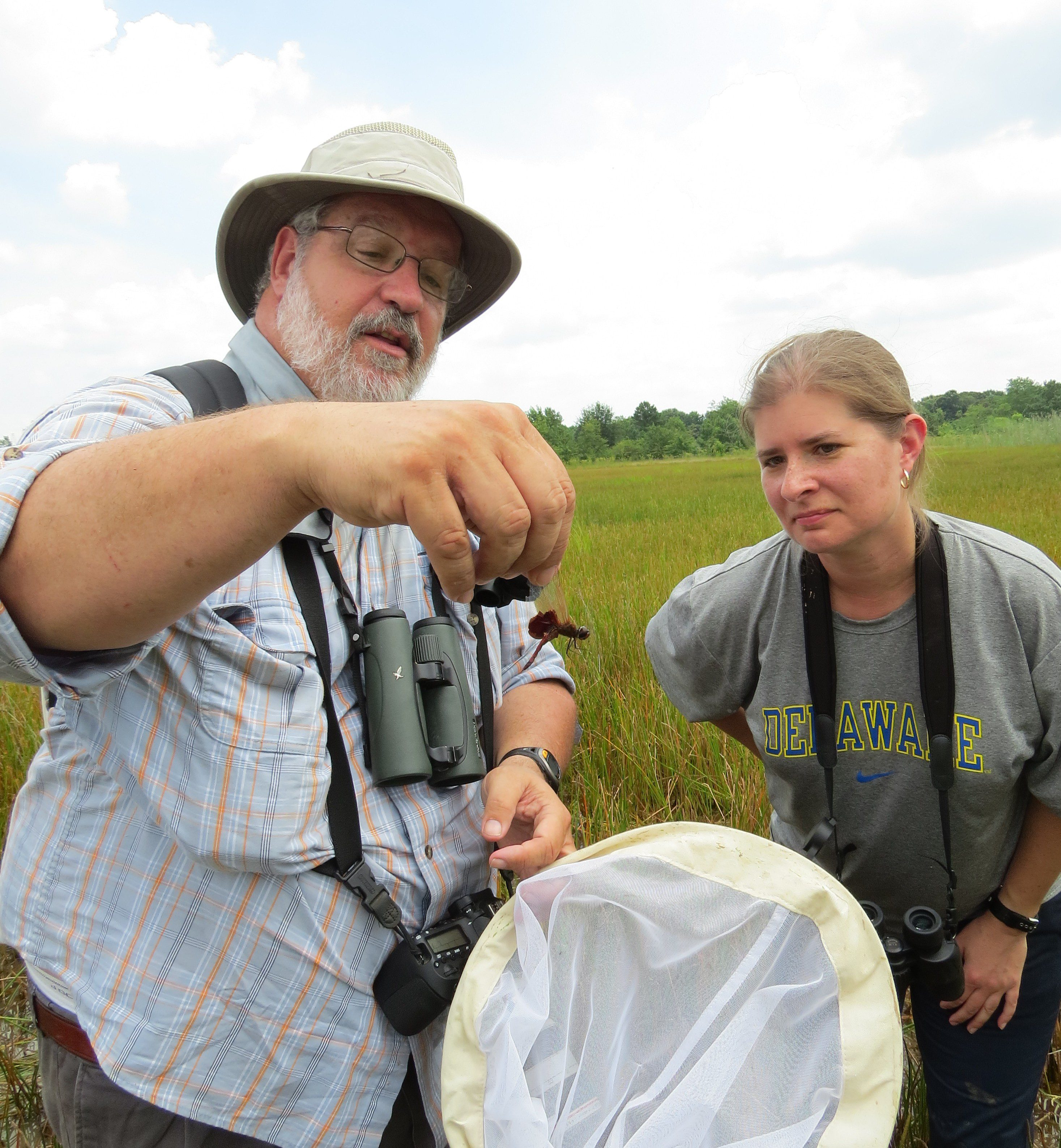 Mike Moore shows off the Carolina Saddlebags to the Advanced Naturalist Club.  Photo by Joe Sebastiani