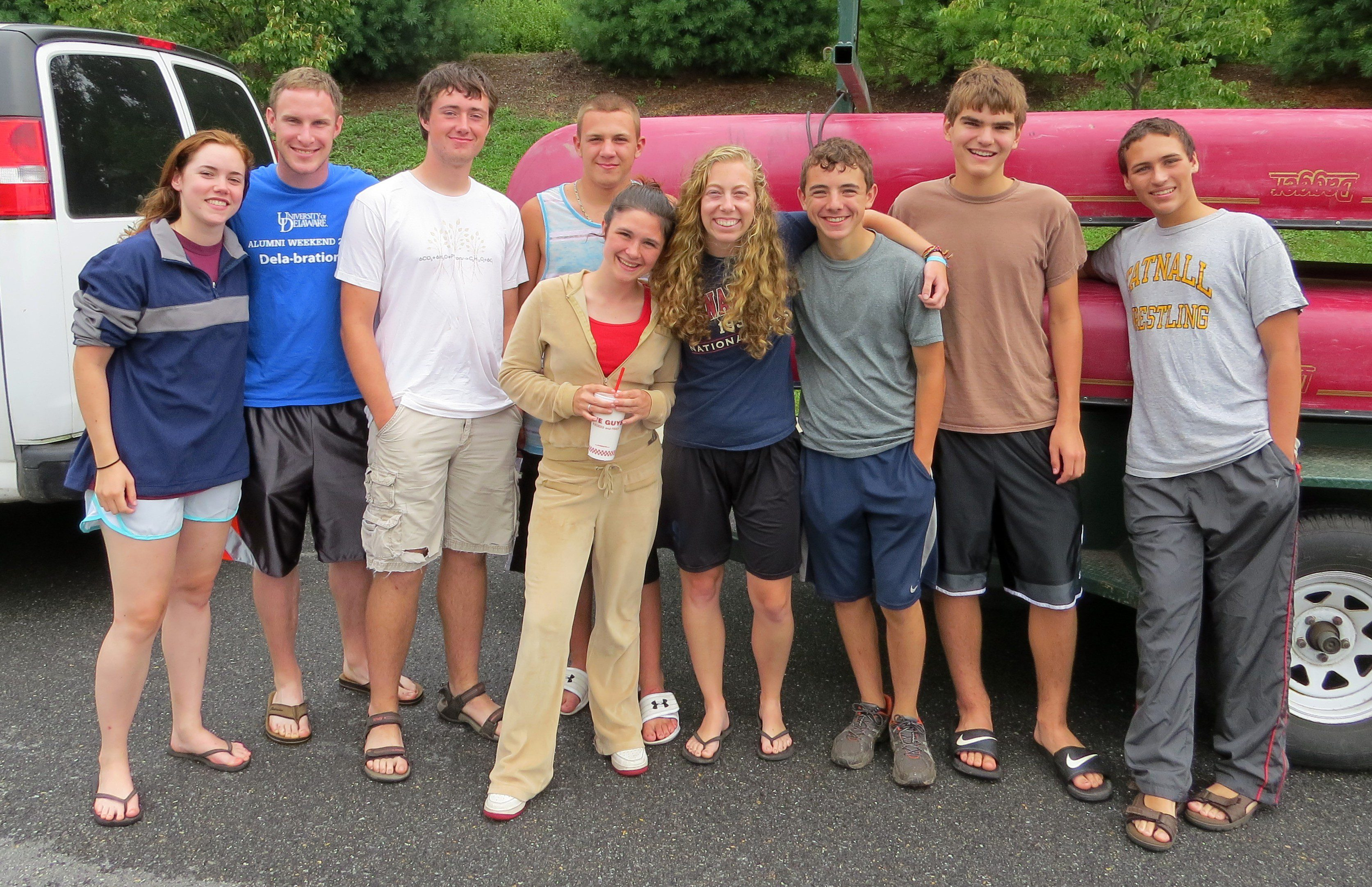 Here we are...warm, dry, happy, and full after our 5-day adventure on the Delaware River.  Photo by Joe Sebastiani